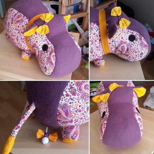 Makerist - Hippo (tuto rhino) avec boîte à musique. - Créations de couture - 1