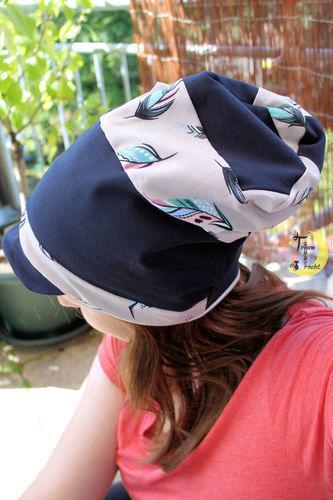 Makerist - Wende-Longbeanie mit Schirm für Erwachsene - Nähprojekte - 2