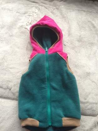 Lille Wooldlöper aus Cord, Fleece und Softshell für mein kleines Mädchen in Größe 80