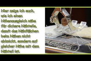 Makerist - Höhenausgleich bei dicken Stoffteilen selber machen - 1