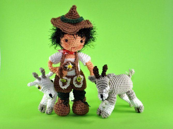 Makerist - Puppe Peter mit seinen Ziegen - Häkelprojekte - 1