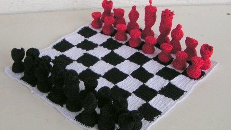 Makerist - Schachspiel Modern Häkelanleitung - Häkelprojekte - 1