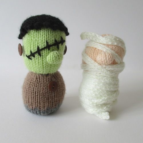 Makerist - Frankenstein and Mummy - Knitting Showcase - 1