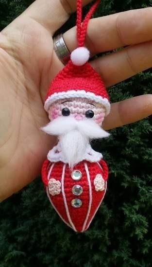 "Amigurumi "" Santa Klausi "" 11 cm Groß"