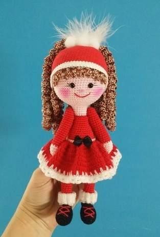 "Amigurumi Puppe "" Nikolinchen "" 22 cm Groß"