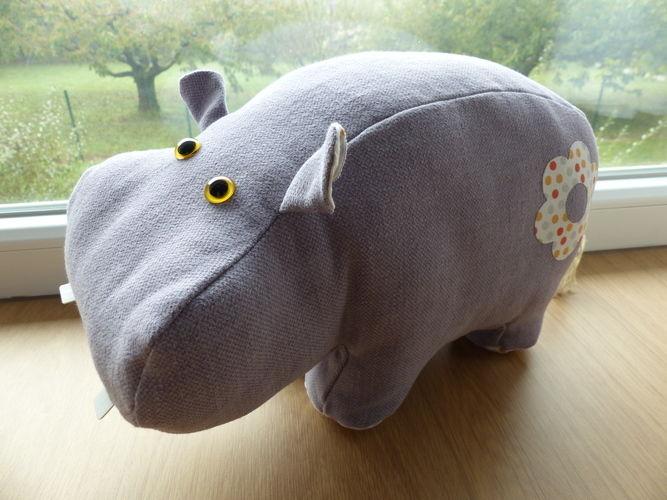 Makerist - Peluche Hippopotame - Créations de couture - 1