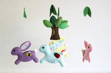 Makerist - Felt Bunny Baby Mobile from Maisie Moo Pattern - 1