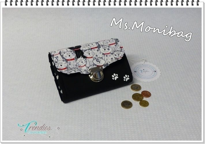 "Makerist - Geldbeutel ""Ms.Monibag"" Katzenstyle - Nähprojekte - 1"