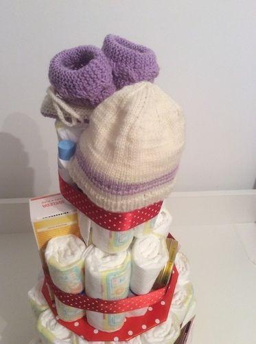 Makerist - Windeltorte für ein frischgeschlüpftes Mädchen - DIY-Projekte - 2