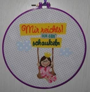 Makerist - Die Prinzessin geht schaukeln - Wandbild - 1
