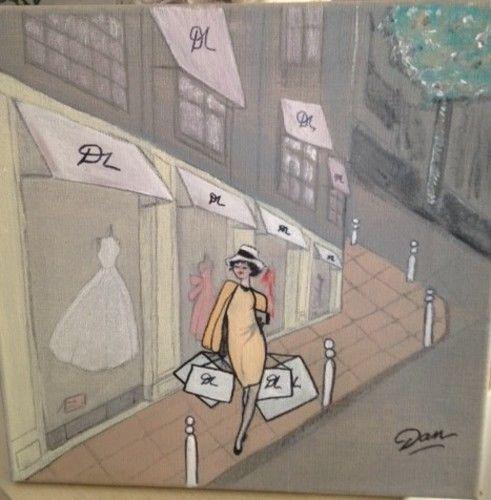 Makerist - Shopping tableau acrylique sur toile de lin  - Autres créations - 1