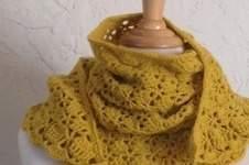 Makerist - trendy châle jaune safran - 1