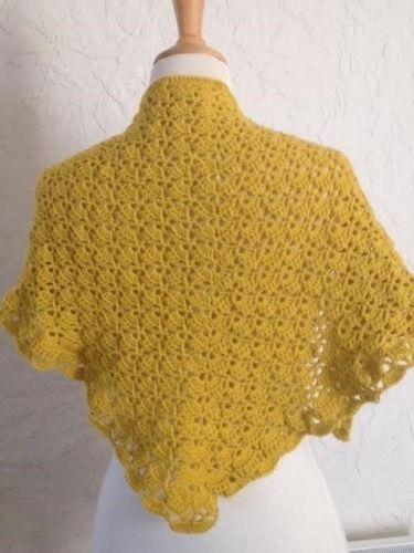 Makerist - trendy châle jaune safran - Créations de crochet - 2