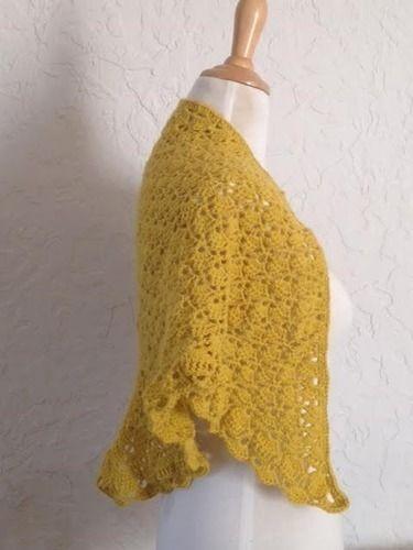 Makerist - trendy châle jaune safran - Créations de crochet - 3