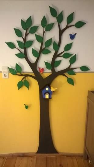 Wanddekoration Baum fürs Kinderzimmer mit Nachtlicht