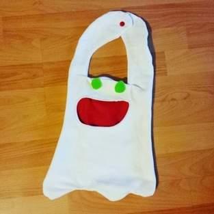 Geisterbeutel für Halloween-Naschkram