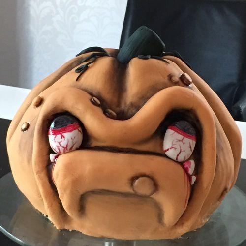 Makerist - Halloween-Kürbis  - Torten, Cake Pops und Cupcakes - 1