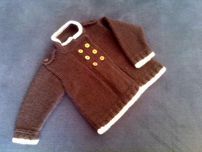 Makerist - Babyjacke mit Schulterklappen - Strickprojekte - 1