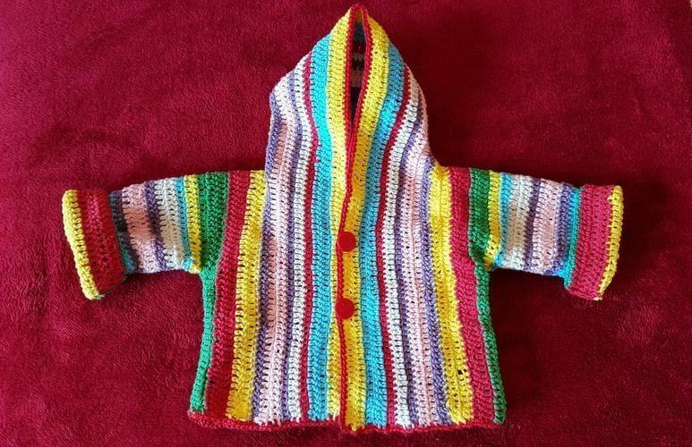 Makerist - Babyhäkeljacke - Häkelprojekte - 1