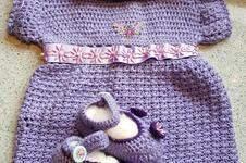 Makerist - Häkelkleidchen mit Mütze und Schühchen - 1
