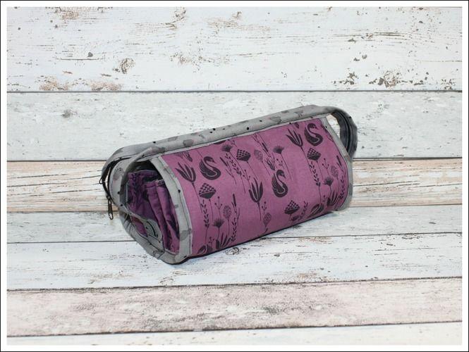 Makerist - Fächertasche in lila u. grau - Nähprojekte - 1