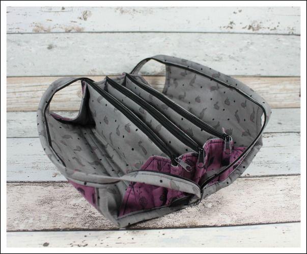 Makerist - Fächertasche in lila u. grau - Nähprojekte - 2