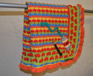 Makerist - Paint Box Baby Blanket in Double knit or Chunky yarn for baby buggy or cot - 1