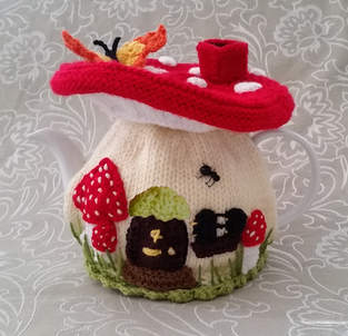 Fairy Mushroom Tea Cosy for an average 4-6 cup tea pot