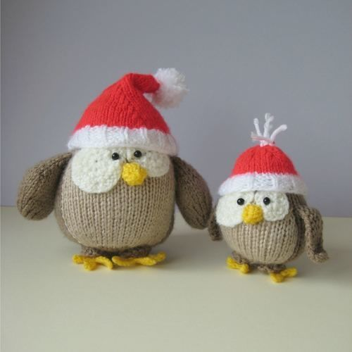 Makerist - Festive Owls - Knitting Showcase - 1