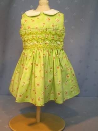 smocked dress for 18ins/46cm doll