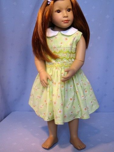 Makerist - smocked dress for 18ins/46cm doll - Sewing Showcase - 3