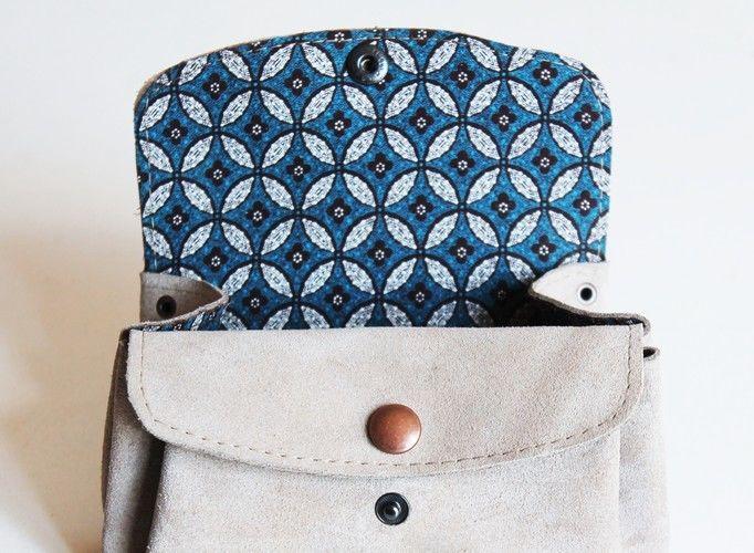 Makerist - Porte-monnaie en cuir et en shweshwe - Créations de couture - 2