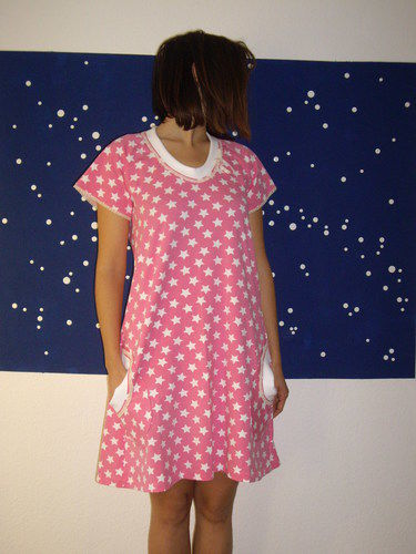 Makerist - rosa Nachthemd - Nähprojekte - 1