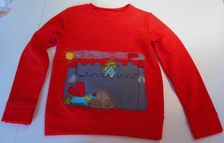 """Makerist - """"Bemalte"""" Kindershirts mit Kinderzeichnungen - Nähprojekte - 2"""