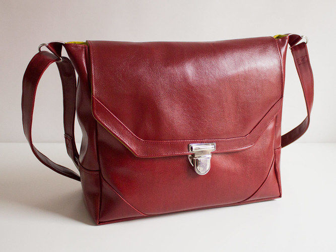 """Makerist - Handtasche """"Klein-Smilla"""" aus Kunstleder - Nähprojekte - 1"""