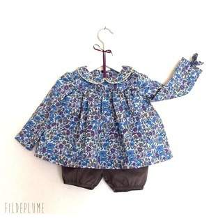 Blouse eintemporelle enfant en liberty