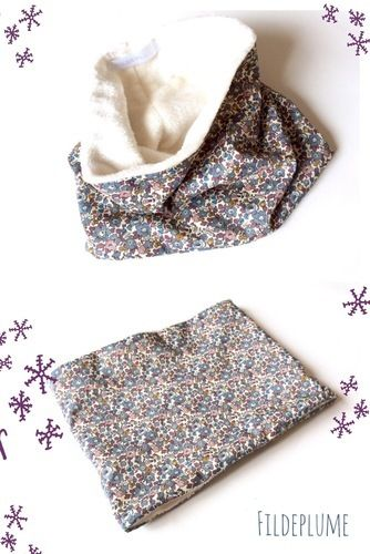 Makerist - Snood enfant doudou/liberty - Créations de couture - 1
