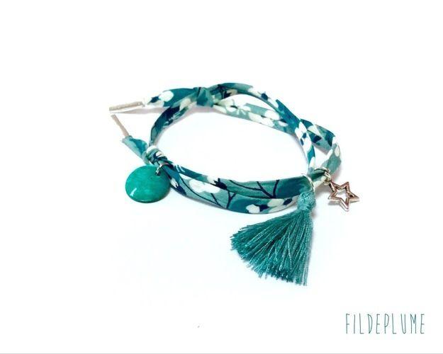 Makerist - Bracelet en liberty - Autres créations - 2