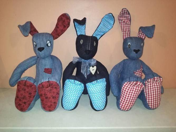Makerist - Denim Raggedy Bunnies - Sewing Showcase - 1