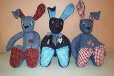 Makerist - Denim Raggedy Bunnies - 1