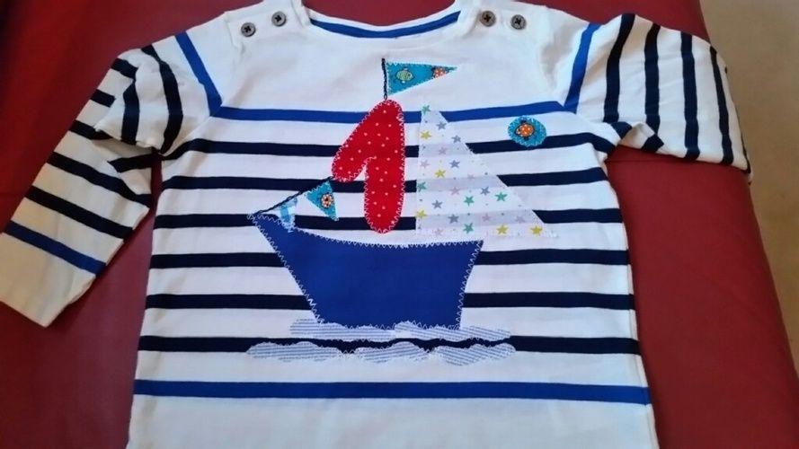 Makerist - Shirt zum 1. Geburtstag / Applikation - Nähprojekte - 1