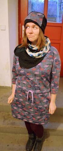 Makerist - Sweatkleid trifft auf Flamingos - Nähprojekte - 3