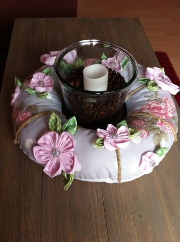 Makerist - Genähter stoffkranz mit handgenähte Blumen - Nähprojekte - 1