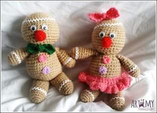 Maspi et Maspa, doudou en crochet spécial Noel