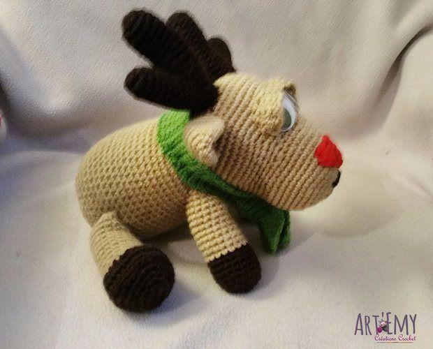 Makerist - Niko le renne du père Noel, doudou en crochet spécial Noel - Créations de crochet - 2