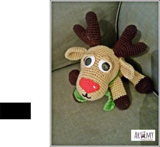 Makerist - Niko le renne du père Noel, doudou en crochet spécial Noel - Créations de crochet - 3