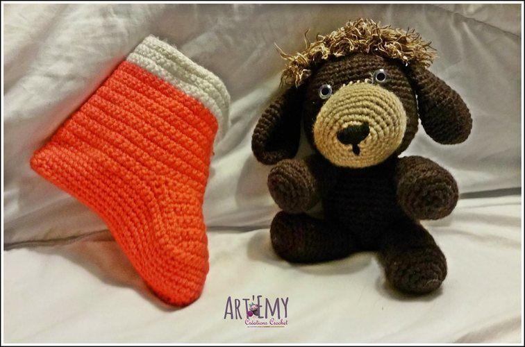 Makerist - Socky le chien-chaussette, doudou en crochet spécial Noel - Créations de crochet - 2