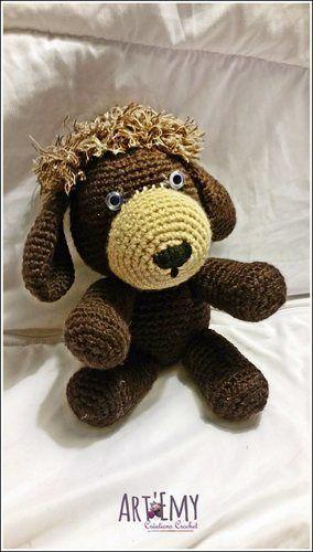 Makerist - Socky le chien-chaussette, doudou en crochet spécial Noel - Créations de crochet - 3