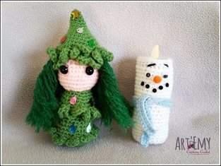 Sapinette et Lumineige, décoration spéciale Noel