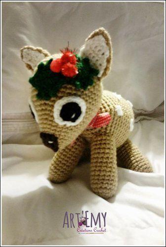 Makerist - MYCKI, le petit faon; doudou en crochet spécial Noel - Créations de crochet - 1
